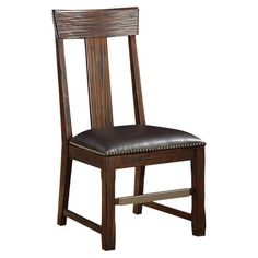 Perfect pulled up to your dining room table or home office desk, this handsome side chair showcases a bonded leather seat and nailhead trim....
