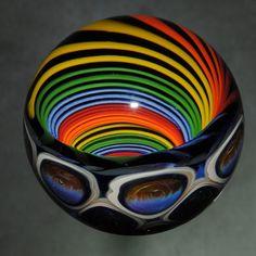 OaklandBayAlchemy @Etsy - Rainbow Vortex Marble