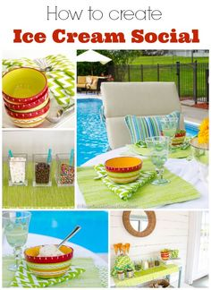 Decorating + ideas for an ice cream social @Mandy Bryant Bryant Dewey Generations One Roof