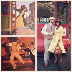 Princess and the Frog Disneybound (Tiana and Naveen) Dapper Day 2014 at Disneyland. I need a man so I can do this. Frog Costume, Hallowen Costume, Couple Halloween Costumes, Halloween Cosplay, Cosplay Costumes, Epic Cosplay, Woman Costumes, Disney Cosplay, Amazing Cosplay