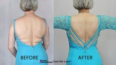 Big Impact Alterations include changing the the back neckline by adding cris-cross straps