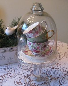 cup of tea vignette ...cute idea!