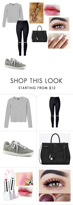 """Untitled #239"" by kpop-queen-826 on Polyvore featuring Monki, ED Ellen DeGeneres and Yves Saint Laurent"