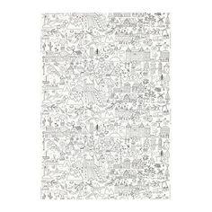 TIDNY Metervare IKEA Du kan gøre tekstilet personligt ved at tegne omridsene op med en permanent tekstiltusch.