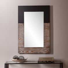 IN WHITE Found it at Joss & Main - Holly Rectangle Oversized Wall Mirror