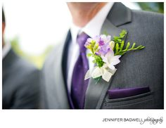 a little purple for the men - wedding at Truett Hurst Winery (photo by Jennifer Bagwell photography)