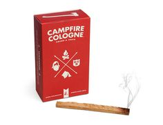 Campfire Cologne.Just take a cedar stick from the box, light it on fire, blow it out, and then let the incense-like smoke of a rugged roaring campfire waft over you. *deep sniff* ahhh!!!