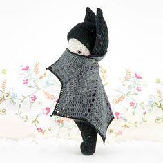 Vlad the Vampire Bat, Halloween crochet pattern by Lalylala Crochet Bat, Crochet Amigurumi, Crochet Cross, Amigurumi Doll, Crochet Animals, Crochet Dolls, Free Crochet, Bat Pattern, Free Pattern