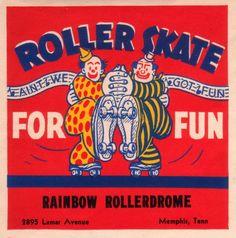 Buyenlarge 'Roller Skate for Fun' Vintage Advertisement Size: Roller Skating Rink, Roller Rink, Roller Derby, Retro Illustration, Illustrations, Vintage Labels, Vintage Posters, Vintage Packaging, Vintage Magazine