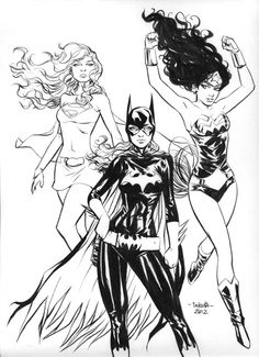 Supergirl, Wonder Woman, and Batgirl