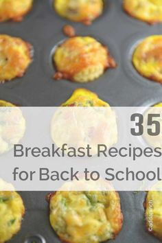 35 Breakfast Recipes for Back to School - Great recipes that give you so many breakfast ideas and recipes that are perfect for back to school and other busy mornings! // addapinch.com from addapinch.com