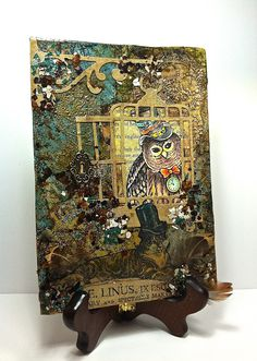 Passionate Paper Creations: Fast Finish Fall Hop - Felinus by Rhea Weigand.  (10132) With @Stampendous Stamps