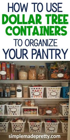 Pantry organization dollar store, pantry organization dollar tree, pantry dollar tree kitchen organization, pantry - Home decor interests Small Pantry Organization, Dollar Tree Organization, Organize Food Pantry, Organizing Ideas For Kitchen, Organized Pantry, Shelves For Pantry, Organization Ideas For Pantry, Organizing Kitchen Cabinets, Storage Ideas