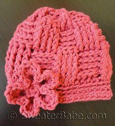 Ravelry: #67 Basketweave Crochet Hat pattern by SweaterBabe
