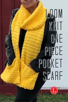 Easy Scarf Knitting Patterns, Round Loom Knitting, Loom Scarf, Loom Knitting Stitches, Loom Knit Hat, Loom Knitting Projects, Loom Patterns, Loom Knitting For Beginners, Loom Hats