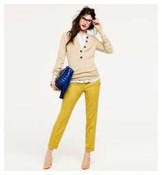 mustard yellow pants.