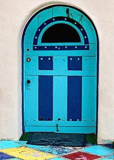 San Diego Photograph - Turquoise Door by Art Block Collections Cool Doors, Unique Doors, Door Knockers, Door Knobs, Portal, Turquoise Door, When One Door Closes, Grand Entrance, Entrance Doors