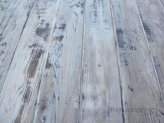 Thrifty and Chic - DIY Projects and Home Decor. How to make new wood look weathered.