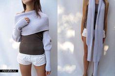 Sweater+scarf Sciarpone. Pattern: http://domosed-ka.ru/sviter-sharf/