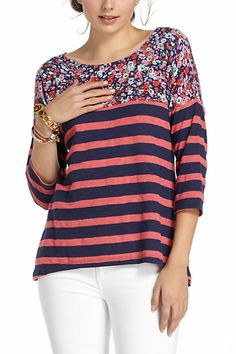 split stripes pullover from anthropologie $58