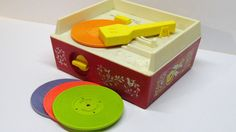 vintage Fisher Price music box record player - 1971