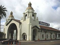 Harvey House in San Diego California Harvey House, Harvey Girls, Vintage Menu, Train Stations, California Homes, Ho Scale, Santa Fe, Trains, San Diego