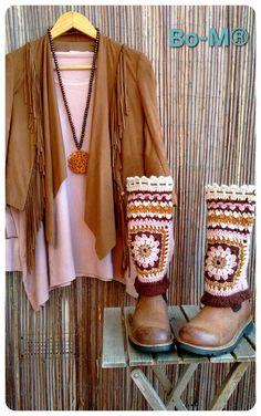 Crochet Leg Warmers, Crochet Boot Cuffs, Crochet Boots, Crochet Gloves, Hippie Chic, Crochet Scarf Tutorial, Tunisian Crochet, Textiles, Boho