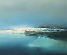 Paintings at the arctic, ice and tundra Abstract Landscape, Landscape Paintings, Abstract Art, Pour Painting, Silk Painting, Great Paintings, Red Art, Color Theory, Arctic