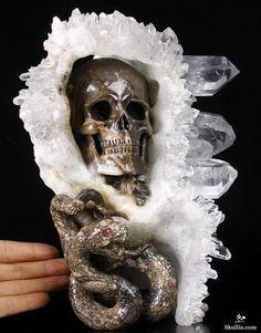 Quartz Druse Crystal Skull from Skullis.
