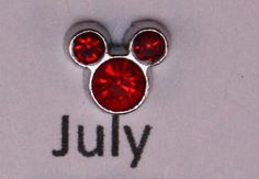 This listing is for one 1/4 July birthstone crystal floating charm. If you need a locket or a chain, please see my other listings.    To purchase multiple items in my store, add all items to your cart before checking out. Shipped first class in a padded envelope. This locket will make a wonderful gift for mom, grandma, daughter, niece, aunt, or for that special person in your life. Perfect gift for Mothers Day, birthday, wedding, graduation, new baby, Sweetest Day, Valentines Day, or jus...