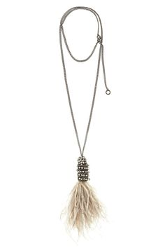 Cher Feather Pendant Necklace | Calypso St. Barth
