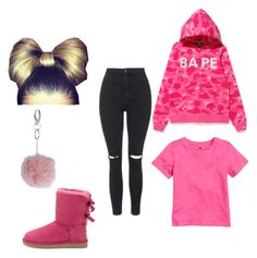 """""""Chilly/Cold Days #1"""" by daisydukesss ❤ liked on Polyvore featuring A BATHING APE, UGG Australia, Topshop and Miss Selfridge"""
