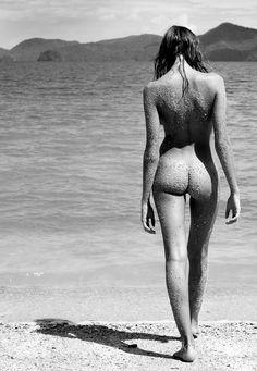 Literal beach bum.