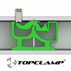 Tube connector for the patented Topclamp modular construction system. (.gif)