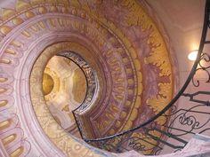 .Spiral staircase