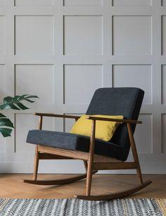 H. Lis Fox Rocking Chair Denim at Rose & Grey