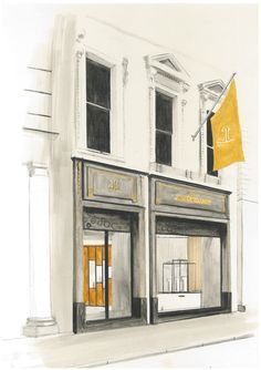99e5ed87e7b An artist Illustration of Jaeger-LeCoultre new flagship boutique