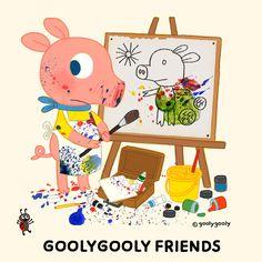 굴리굴리 프렌즈 데지이지와 포비 그림책 준비중... goolygooly www.goolygooly.com