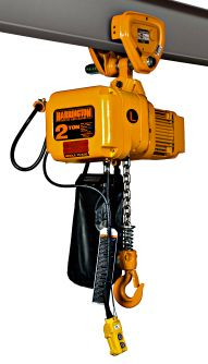 Harrington 2 Ton Single Phase Electric Chain Hoist 10 Of Lift Push Trolley Mounted Hoist Electricity Harrington