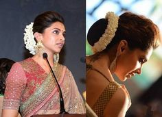 10 Celebrities And Their Floral Jewellery – Bun Hairstyles Saree Hairstyles, Indian Wedding Hairstyles, Bride Hairstyles, Trendy Hairstyles, Hairdos, Side Bun Hairstyles, Hairstyle Wedding, Ethnic Hairstyles, Modern Haircuts