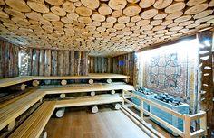 Sauna Wellness, Sauna Design, Jacuzzi Outdoor, Sauna Room, Rocket Stoves, Wood Art, Firewood, Spa, Home And Garden