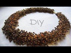"""Коллье из бисера МЕХ.Мастер-класс в технике """"МЕХ"""". DIY Beaded Jewelry - YouTube"""
