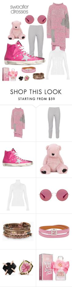"""""""sweater dress"""" by redbone1961114 on Polyvore featuring 3.1 Phillip Lim, Peace of Cloth, Golden Goose, Charlotte Simone, Ray-Ban, Stella & Dot, Fendi, Melissa Joy Manning and Juicy Couture"""