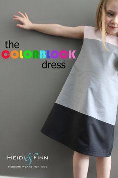 Heidi & Finn - Colorblock Dress - 12 mois à 5 ans