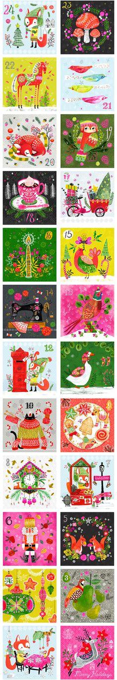 Etiquettes numérotées calendrier de l'avent - Noël - free printables - Christmas - calendar - papier - paper - déco - fête