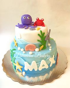 Ocean cake!!! Por qué bajo el mar la vida es más sabrosa!! Y con este pastelito más!