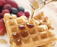 Light, Crisp Waffles.  This page explains why it works. The actual recipe is linked within the article.