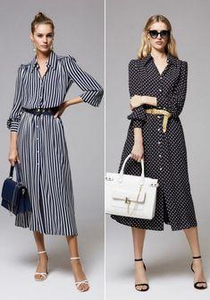 Moda anti-idade: 17 Vestidos clássicos para mulheres modernas Trendy Tops For Women, Trendy Fashion, Womens Fashion, Chiffon Dress, Casual Chic, Night Out, Shirt Dress, Stylish, Outfits