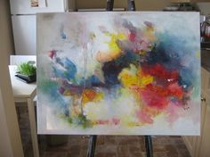 32x24, ---Large original colorful seascape painting, by sj.kim $350