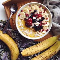 """veganarchi: """" Alright, so I've got to be real with you guys, smoothies are not my favourite right now… I'd just rather sit down to a warm sweet bowl of oatmeal than a fresh and frosty smoothie. BUT,..."""